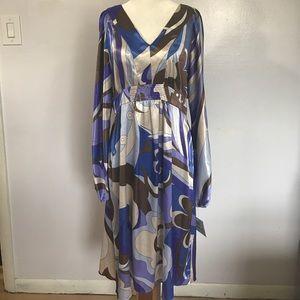 Suzi Chin Dresses & Skirts - Suzi Chin Retro Patterned Dress- Sz 12 NWT