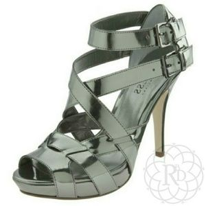 Guess by Marciano Shoes - NEW Guess EULLIA Silver Metallic Gladiator Heels