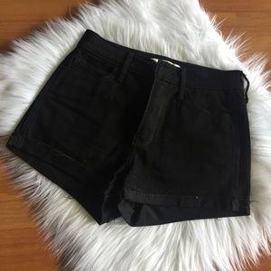 High Rise Black Hollister Shorts