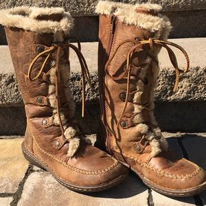 b.o.c. Shoes - b.o.c. Distressed Leather Shearling Lined Boots