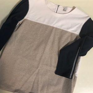 J. Crew color block zipped sweatshirt