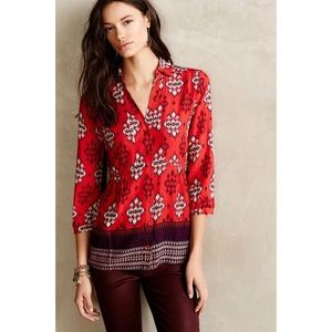 Anthropologie Tops - Lovely printed top from anthroplogie!