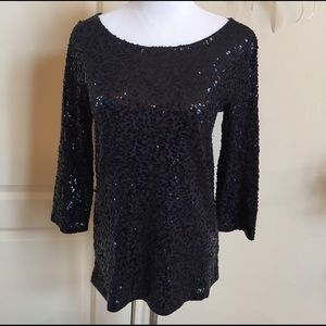 J.Crew sequined long sleeve top