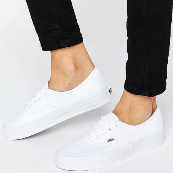 Vans Shoes Authentic Classic White Lace Up Sneakers Poshmark