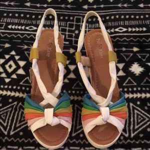 pol Kane Shoes - NWT! Pol Kane Rainbow Cork wedges! FIRM