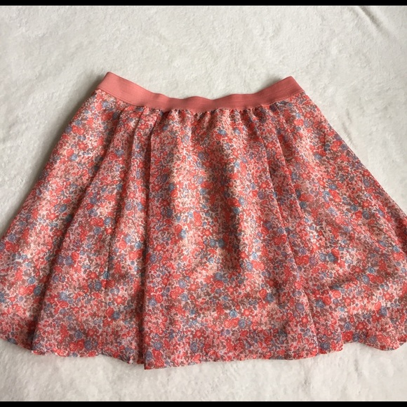 Frenchi Skirts - adorable bright floral skirt size L