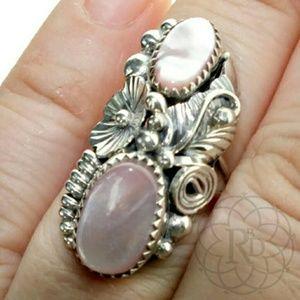 Vintage Jewelry - Vintage Navajo Sterling Pink Mother of Pearl