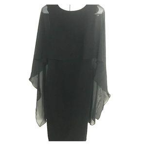 Glamour & Co. Dresses & Skirts - Glamorous flutter cape dress NWOT
