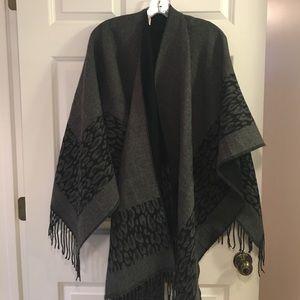 Free Country Accessories - Free People kimono wrap black/gray