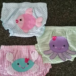 "Baby Aspen Other - ""BEACH BUMS"" 3-piece Diaper Cover Set"