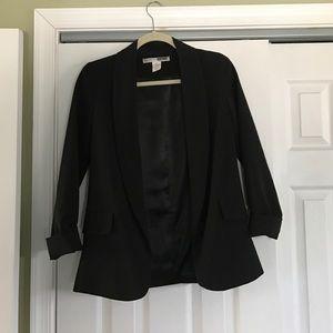 3/4 sleeve length black blazer