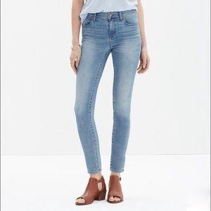 Madewell high riser skinny crop jeans