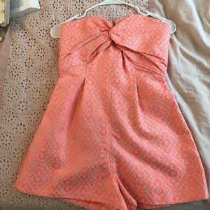 Pink patterned romper