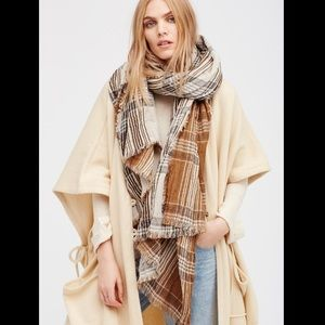 Free People Accessories - FREE PEOPLE plaid oversized scarf