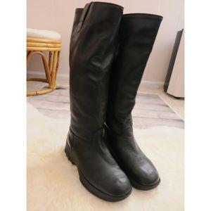 Bogner Shoes - Bogner tall black leather wedge boots 8.5 winter
