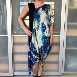 Zero + Maria Cornejo Dresses & Skirts - Zero + Maria Cornejo blue water print dress