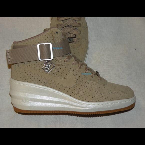 4dae5938cbfe Nike Lunar Force 1 Sky Hi Desert Camo Sneaker Shoe
