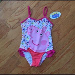 Peppa Pig Other - NWT PEPPA PIG bathing suit sz 4 8