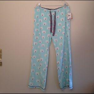 PJ Salvage Other - NWT Nordstrom Cozy Polar Bear Pajama Bottoms