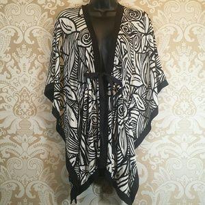 Chico's Tops - Chico's Travelers Tie Front Kimono Jacket top S/M