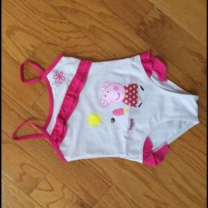 Peppa Pig Other - NWT PEPPA PIG frilly bathing swimsuit 4 8