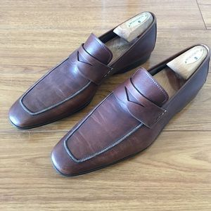 Magnanni Other - 🎀👞Magnanni Brown Leather Loafers👞🎀