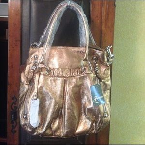 B Makowsky Handbags - B Makowsky Copper Leather Purse