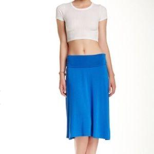 bobeau Dresses & Skirts - New Nordstrom's Bobeau Medium Blue Solid Skirt