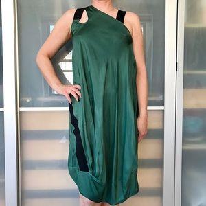 Zero + Maria Cornejo Dresses & Skirts - Zero + Maria Cornejo green and black drape dress