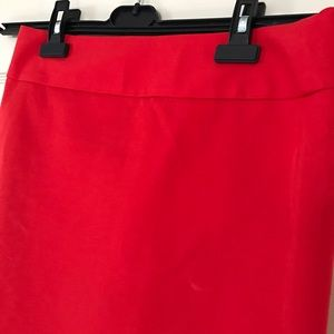 Red Orange pencil skirt by LOFT