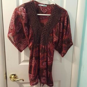 Maurices Tops - Maurices sheer tie back blouse beautiful top