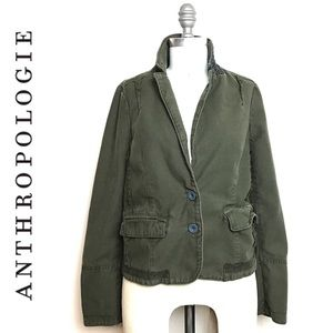 Hei Hei • Anthro Military Blazer Plaid Jacket