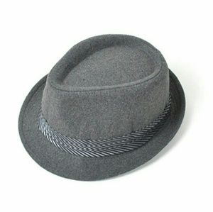 Westend Other - Gray Fedora with Striped Band