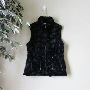 Gallery Jackets & Blazers - Gallery // Black Faux Fur Vest