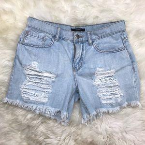 Forever 21 Pants - Forever 21 Light Distressed Boyfriend Denim Shorts