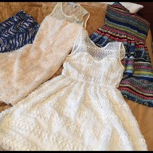 Bundle 4 dresses new with tags or new no tags