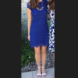 Stella Luce Dresses & Skirts - Royal blue lace cap sleeve dress size small