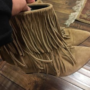 elyse walker Shoes - Beige wedge booties
