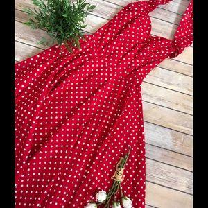Vivien of Holloway Dresses & Skirts - Polka Dot Halter Swing Dress