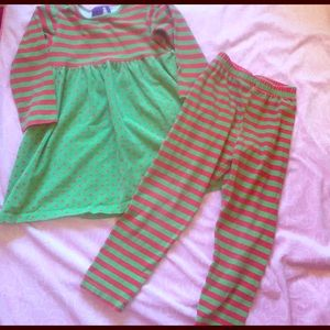 Flap Happy Other - FLAP HAPPY: green and red outfit