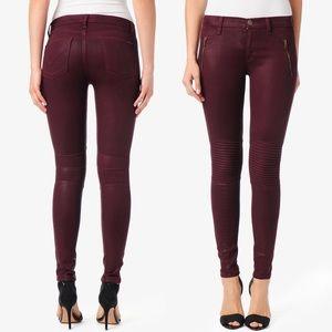Hudson Stark Moto Jeans in Crimson Wax
