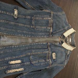 Jean jacket w / Swarovski rhinestone trimmings