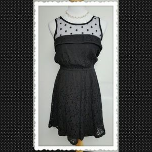 Pinky Dresses & Skirts - Pinky Black Dress with Sheer Top