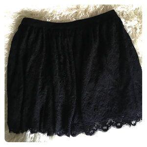 Lacy flowy mini skirt