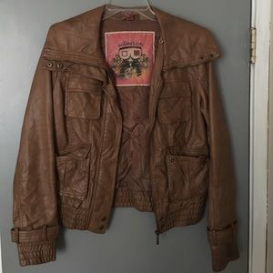 Collection B Jackets & Blazers - Brown leather jacket
