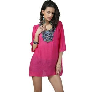 Tops - New Women's Embroidered Bead Tunic Top