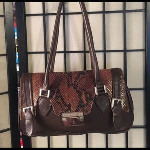 carla mancini Handbags - Carla Mancini brown leather and snakeskin bag