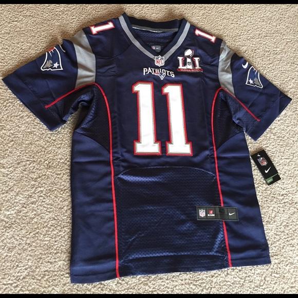 93c3879bf Patriots Super Bowl 51 Football Jersey EDELMAN  11