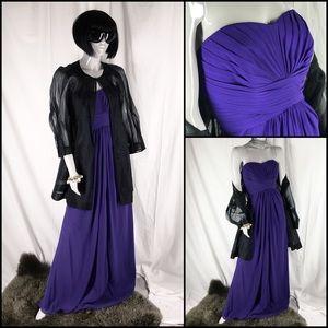 David's Bridal Dresses & Skirts - DB Long Strapless Chiffon Dress Style F15555