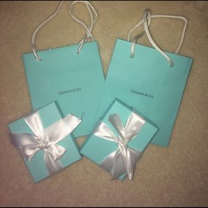 Tiffany & Co. Jewelry - SOLD!!!!! 2 Tiffany & Co boxes and bags